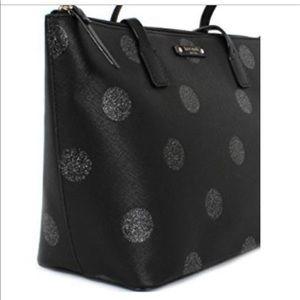 kate spade Bags - Kate Spade Black Polka Dot Tote - BRAND NEW